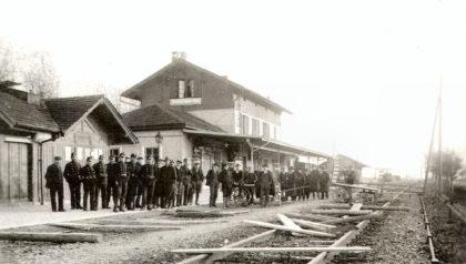 Streikende und Landsturmkompagnie 1918